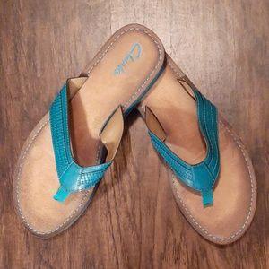 Clark's Flip Flops - turquoise color